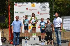 Siegerehrung U11 weiblich; Lisa belegte den 1. Platz