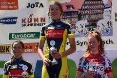 Siegerehrung  U15w, Miriam Platz 1/ Tina Platz 2