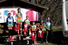 Siegerehrung U13w; Tina belegte den 5. Platz