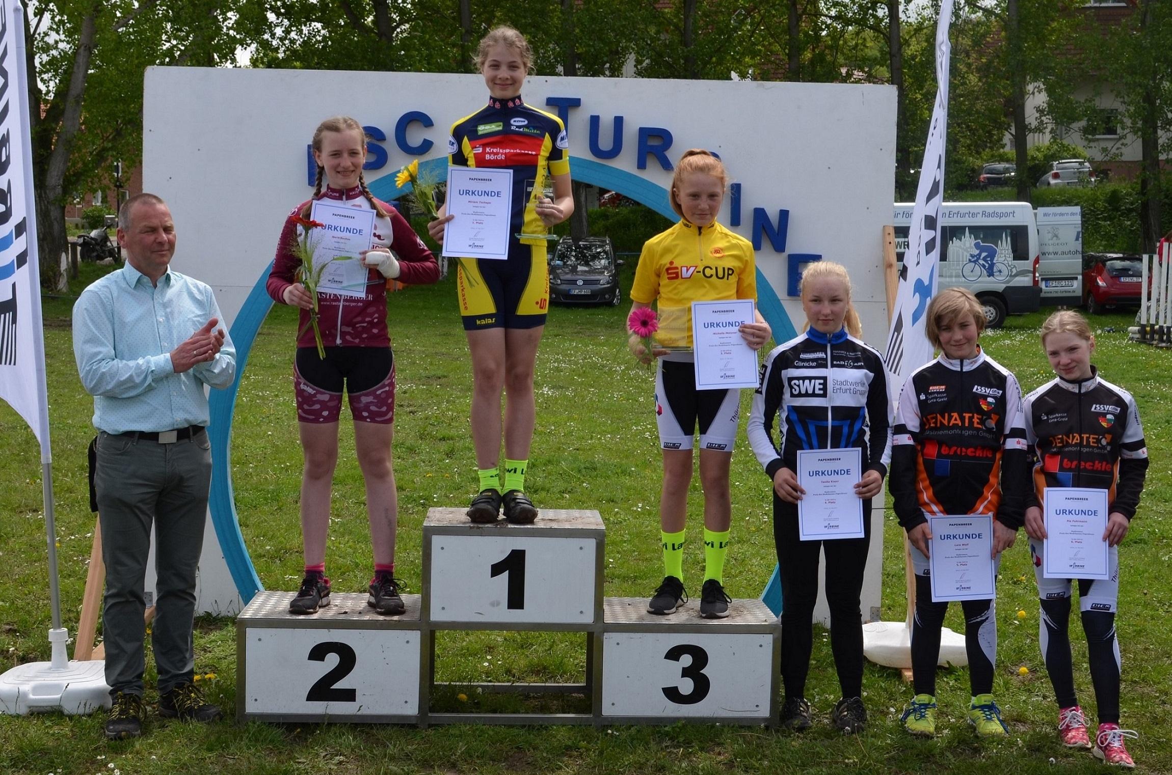 Siegerehrung U13 weiblich, Miriam wurde 1.