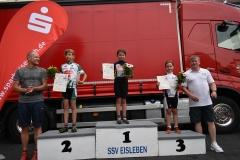 Siegerehrung U11 weiblich, Edda belegte Platz 1