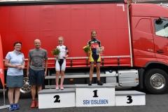 Siegerehrung U13 weiblich, Tina belegte Platz 1
