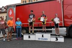 Siegerehrung U15 männlich, Lennert belegte Platz 1