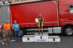 Siegerehrung U17 weiblich, Tami belegte Platz 1
