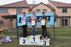 Siegerehrung U13 weiblich, 3. Platz Lisa Meinecke