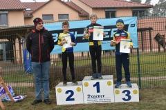 Siegerehrung U13 männlich, 1. Platz Onno Bieberle, 3 Platz Gerrit Lerch