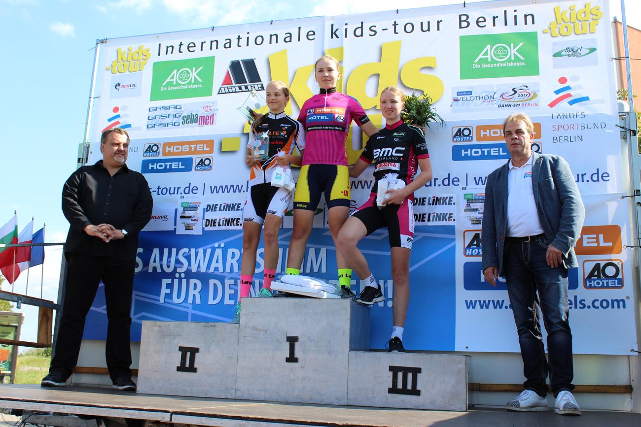 Siegerehrung mit Anna auf Platz 1