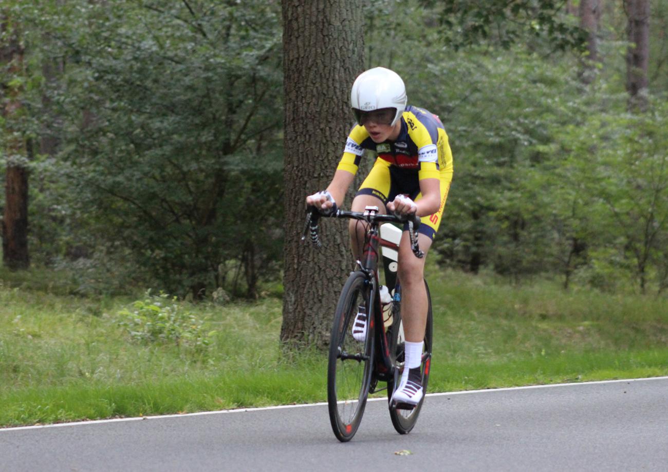 Moritz beim Einzelzeitfahren