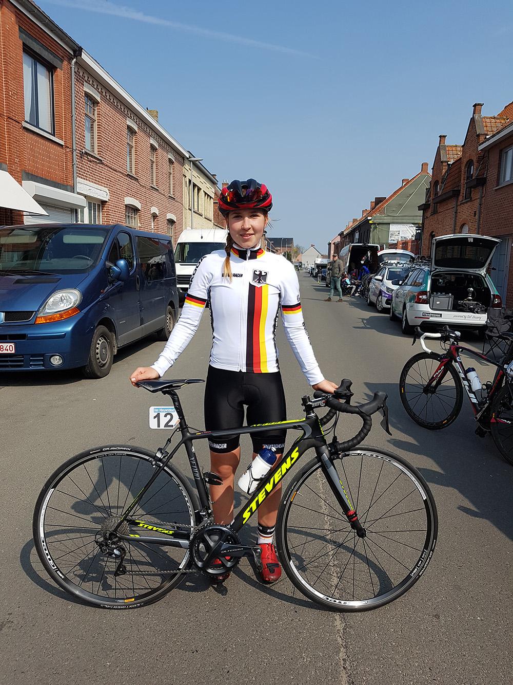 Anna beim UCI - Nationencuprennen in Belgien