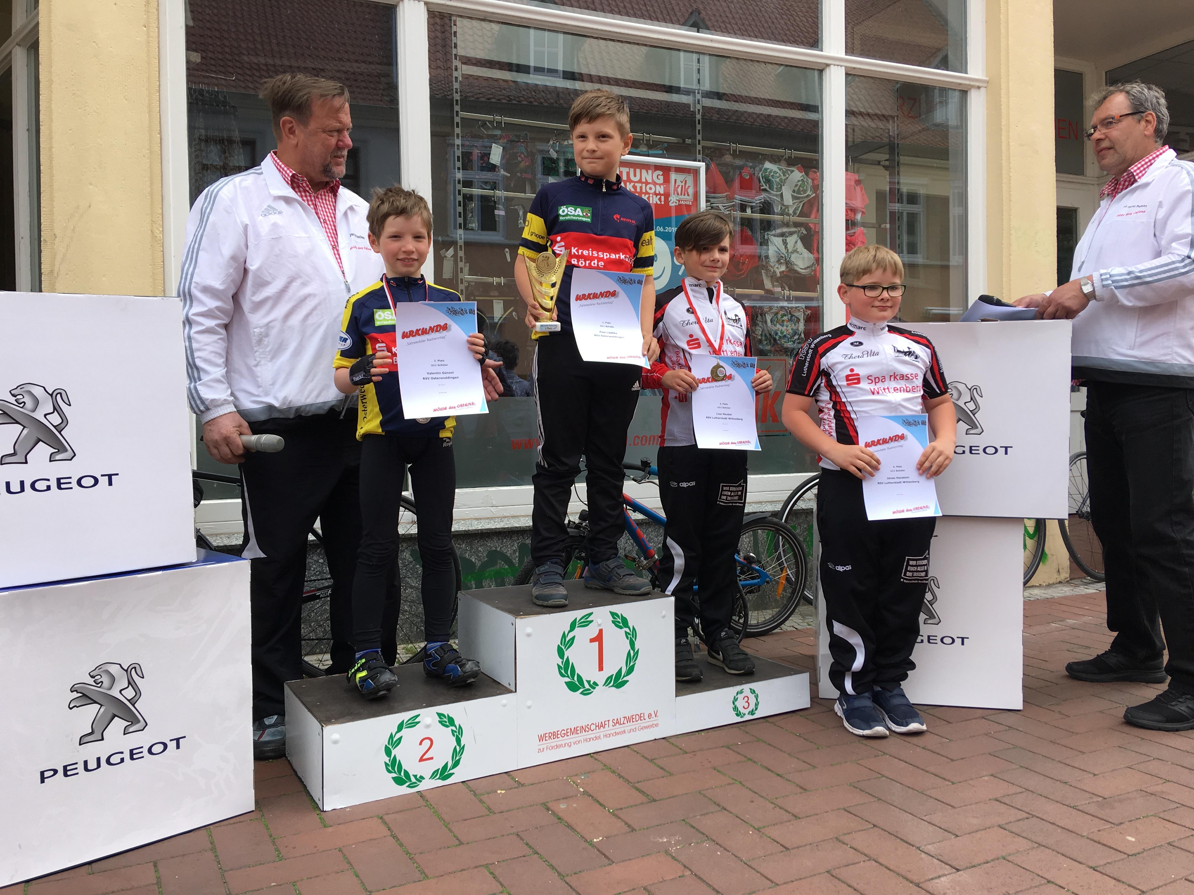 1., Platz für Finn Liedke, 2. Platz für Valentin Günzel