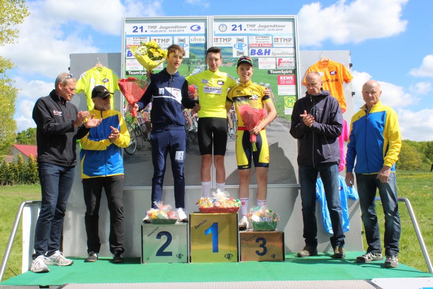 Gesamtsiegerehrung - Moritz Platz drei